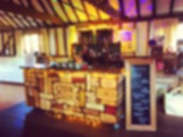 Chin Chin Wine Box Bar at Essex wedding