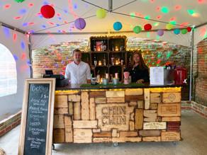 Barn Wedding in Braintree | Chin Chin Wine Box Bar at Anne of Cleves Barn