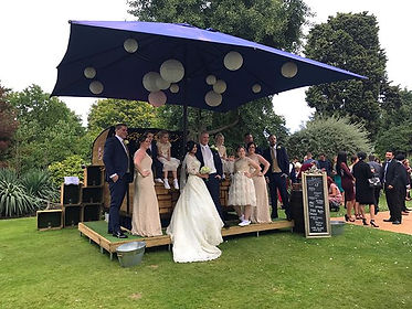Chin Chin Caravan Bar at Essex wedding