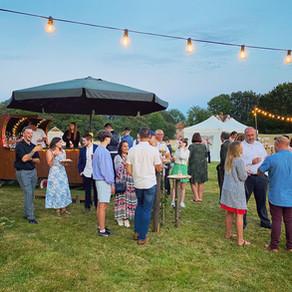 A Festival Wedding   Chin Chin Caravan Bar   Warehorne Village Hall in Ashford, Kent