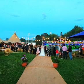 Chin Chin Caravan Bar at Ellie & Sam's Festival Wedding in Chelmsford, Essex