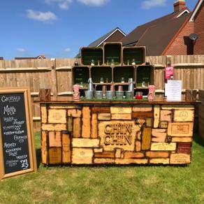 Chin Chin Wine Box Bar at Richard & Jayne's 25th Wedding Anniversary in Ashford, Kent