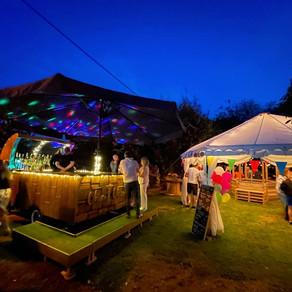 Ed & Michelle's Wedding Garden Party   Chin Chin Caravan Bar   Maidstone, Kent