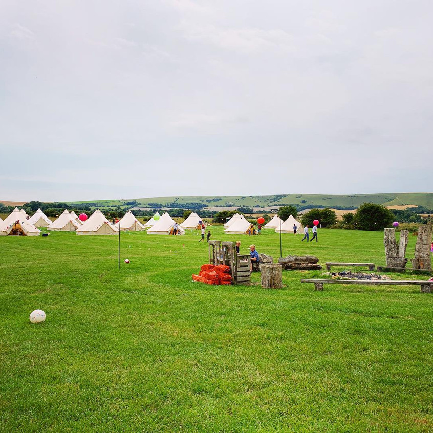 Brighton Bell Tents & Firepit