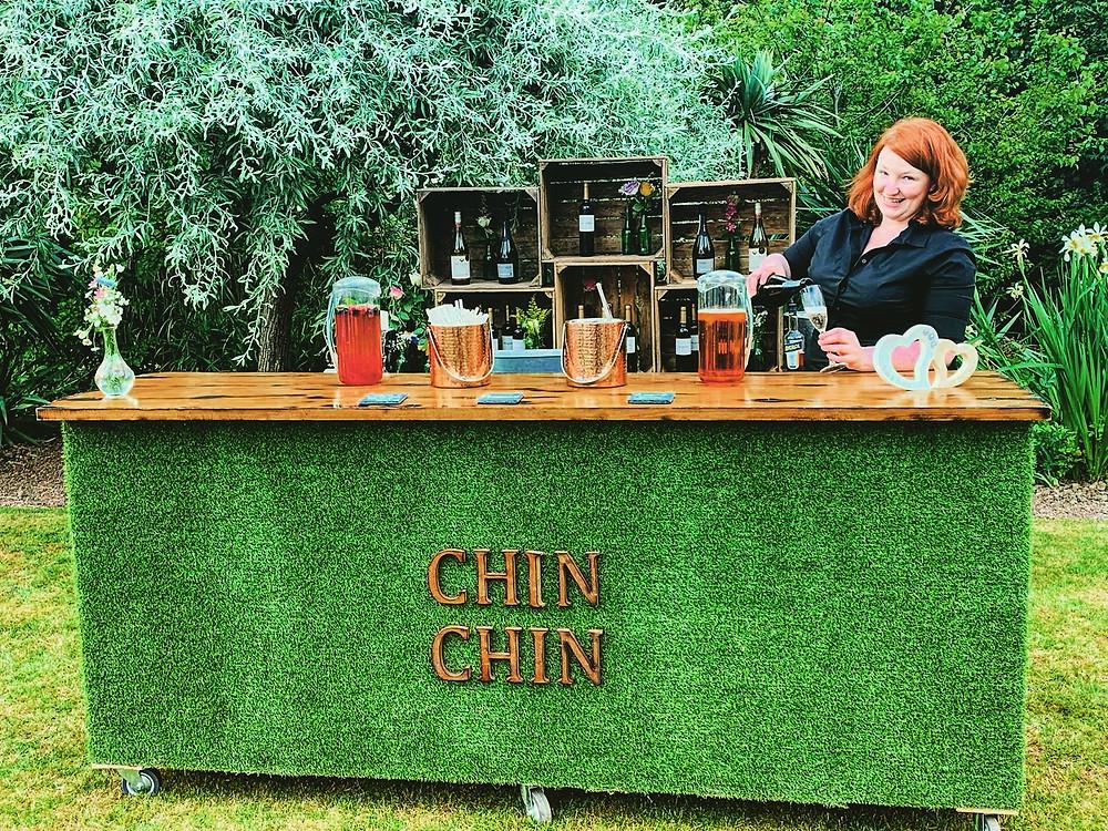 Chin Chin Lawn Bar at Sam & Becky's Wedding Party at Red Brick Barn, Essex
