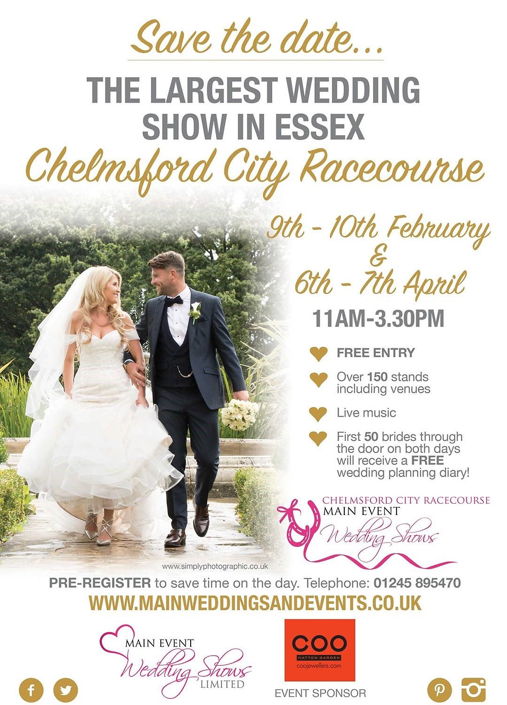 Chelmsford City Racecourse Wedding Show February 2019