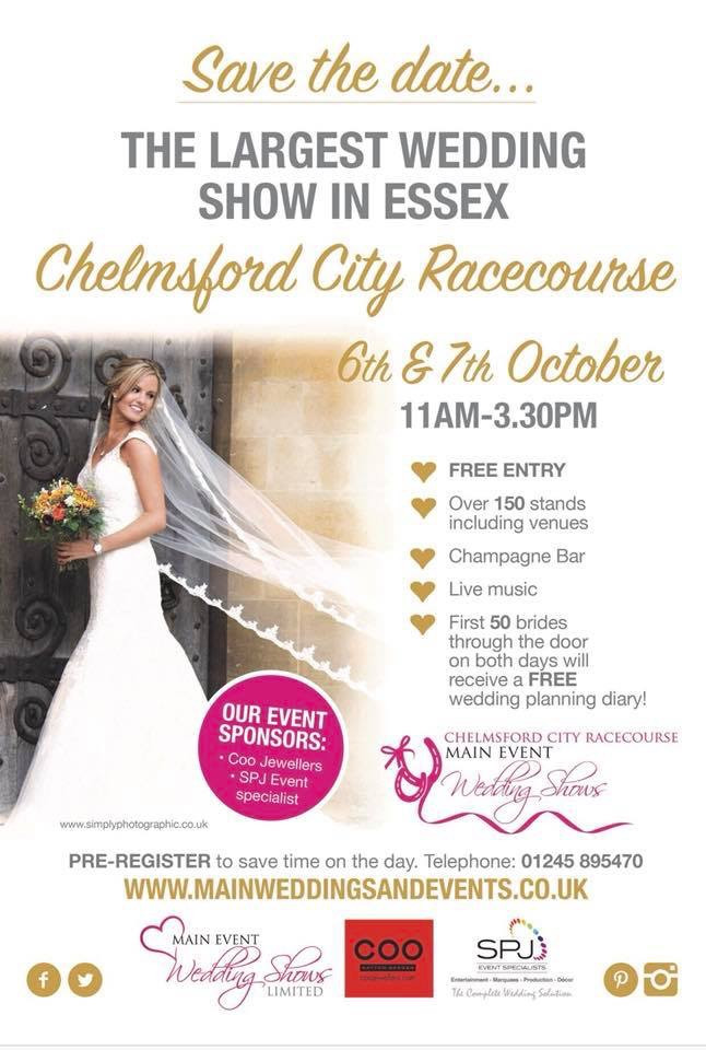 Main Event Wedding Show at Chelmsford City Racecourse - 6th & 7th October 2018