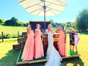 Kent Tipi Wedding | Chin Chin Caravan Bar at Alkham Valley Wedding