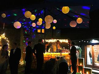 Wedding guests & the Chin Chin Caravan Bar