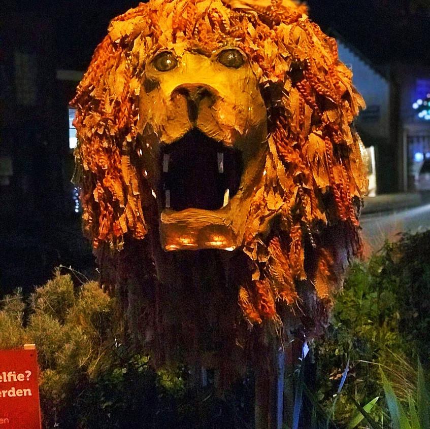 Aslan at Christmas in Tenterden 2018