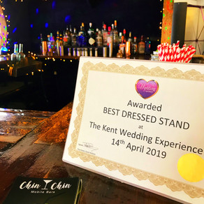 Kent Wedding Experience Show Detling | Chin Chin Mobile Bars Wins 'Best Dressed Stand'!