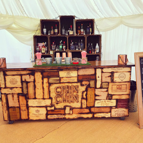 Chin Chin Wine Box Bar at Joanne & David's Marquee Garden Party in Rochester, Kent