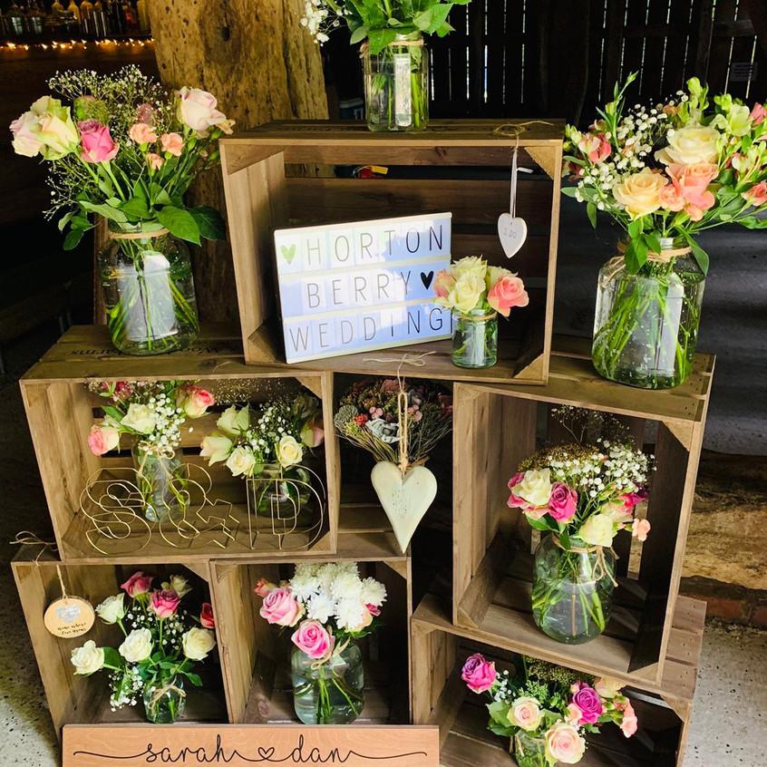 Apple Crates at Daniel & Sarah's Wedding