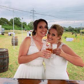 Kate & Tanya's Farm Wedding   Chin Chin Festival Bar   Twinstead, Sudbury
