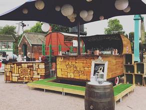 Chin Chin Caravan Bar & Wine Box Bar at East Anglian Railway Museum Wedding