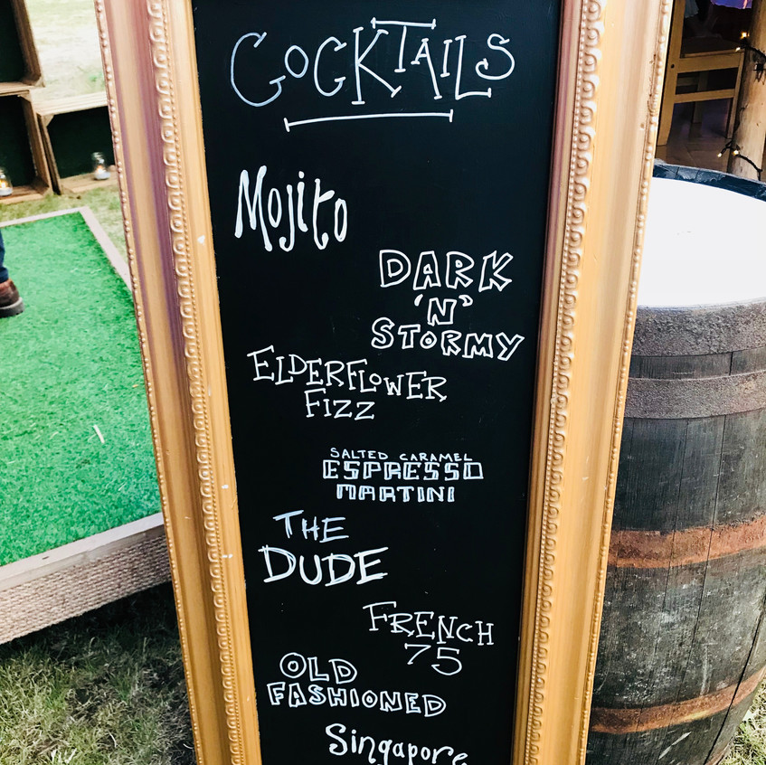 Chin Chin Cocktail Sign