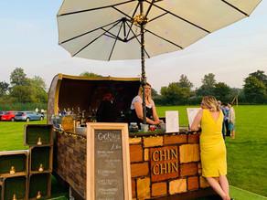 Brandeston Village Hall Wedding | Chin Chin Caravan Bar at Joseph & Maggie's Woodbridge Wedd