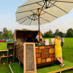 Brandeston Village Hall Wedding | Chin Chin Caravan Bar at Joseph & Maggie's Woodbridge Wedd