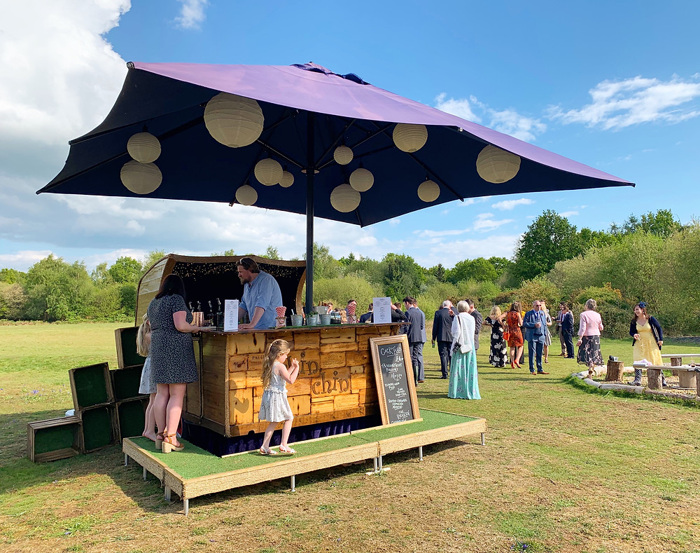 Chin Chin Caravan Bar at Andrew & Lianne's Wedding at Two Woods Estate in Pulborough, West Sussex