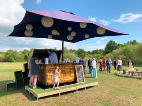 Spring Marquee Wedding | Chin Chin Caravan Bar at Andrew & Lianne's Wedding at Two Woods Est