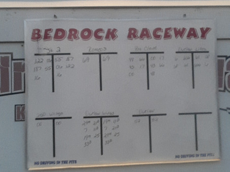 Bedrock Raceway #55 Charlie Keeven takes 2nd in Feature race almost 1st.