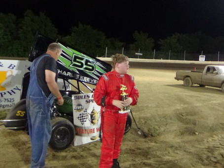 Micro-Outlaw winner at Cole's County Speedway and Cerro Gordo Speedway  6/16/2018.