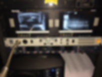 Stage manager panel & remote video system installed by Concert Sound Systems.