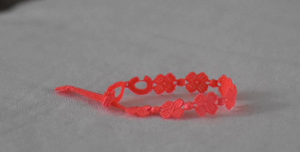 """Bracelet crochet à nouer """"Rose Fluo"""""""