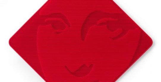 Dessous de plat et manique MONA LISA Rouge