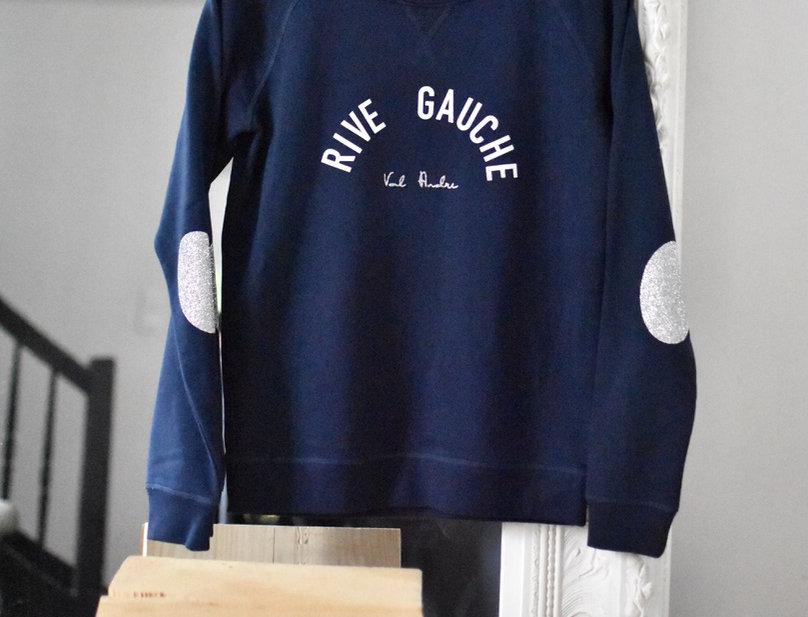 Sweat bleu RIVE GAUCHE Val Andre
