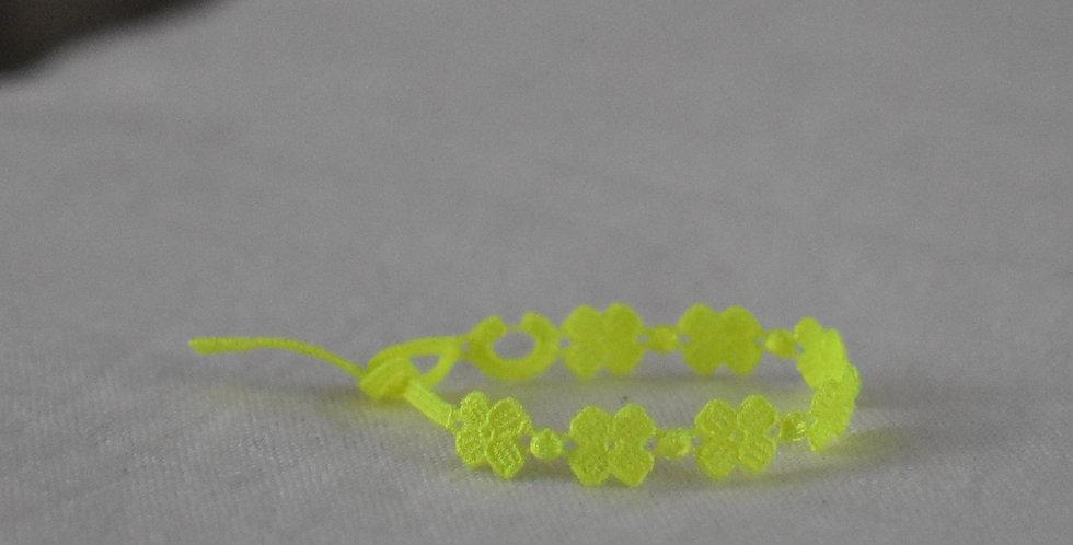 """Bracelet crochet à nouer """"Jaune Fluo"""""""
