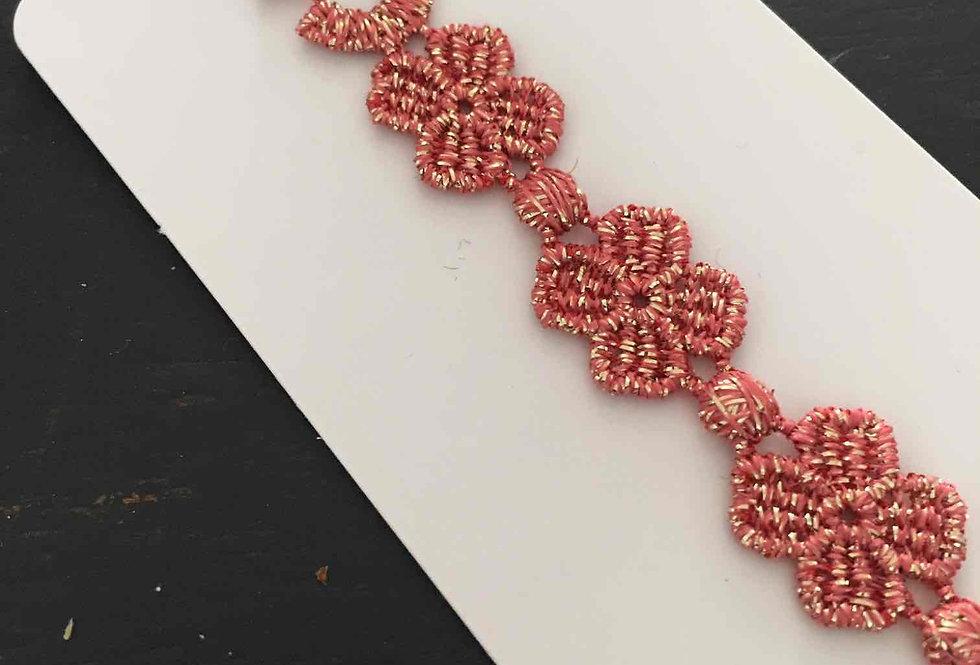Bracelet Italien rose pailleté