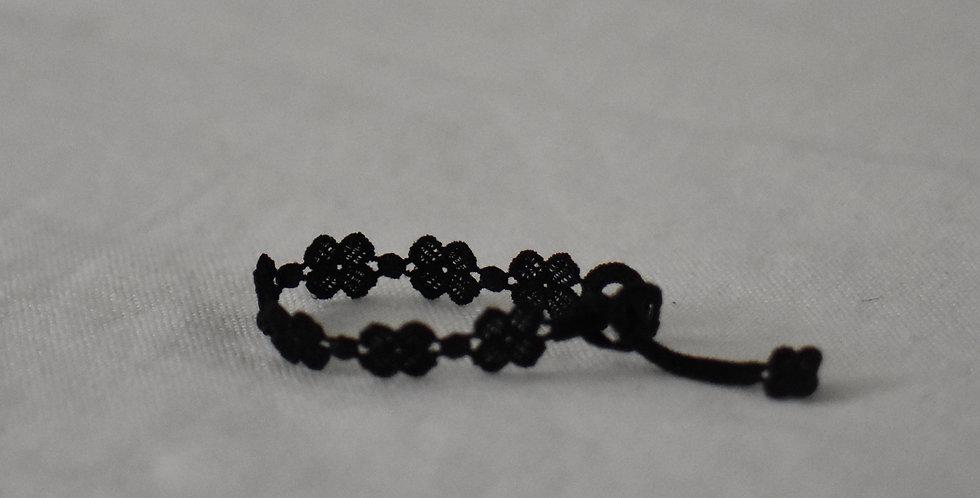 """Bracelet crochet à nouer """"noir"""""""