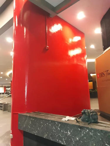 Making good of existing red pillar
