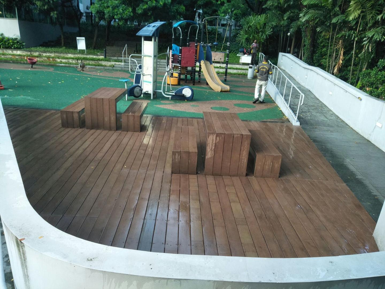 Warped Composite Timber Deck Repair