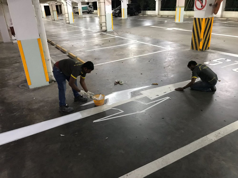 Road Signage Painting Work