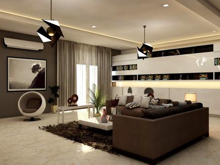 Aranżacja salonu i oświetlenie