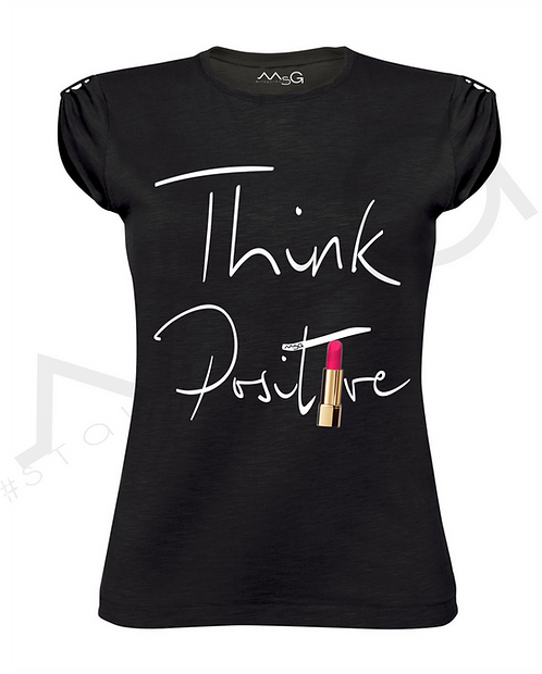 "T-Shirt ""Think Positive"" donna"