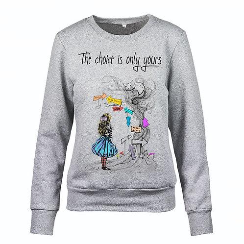 "Felpa ""Alice"" donna"
