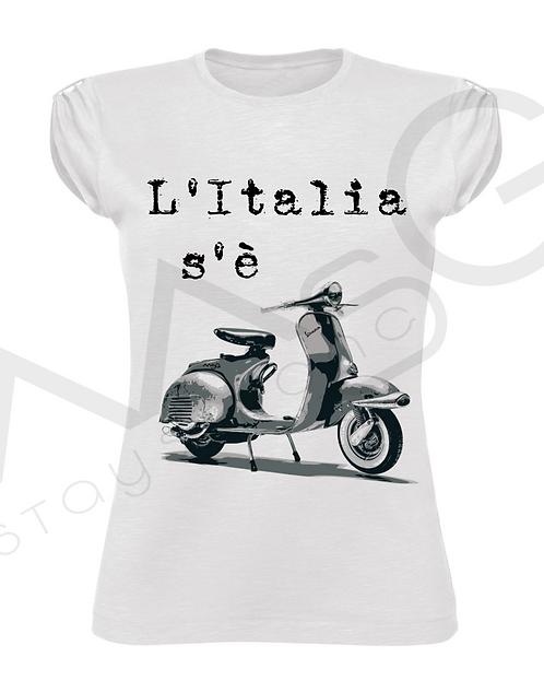 """T-Shirt """"L'italia s'è vespa"""" donna"""