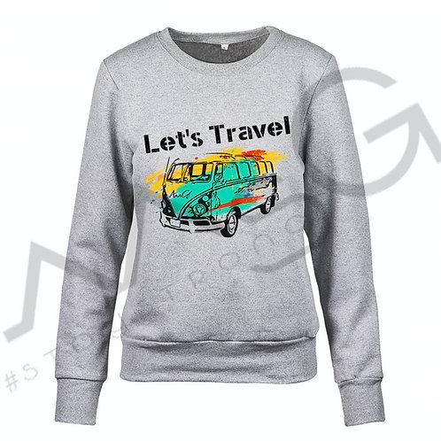 "Felpa ""Let's Travel"" donna"