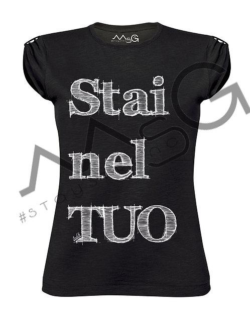 "T-Shirt ""Stai nel TUO"" donna"