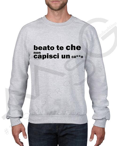 """Felpa """"Beato che non"""" - uomo"""