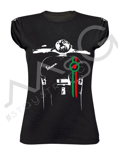 """T-Shirt """"Vespa Tricolore """" donna"""