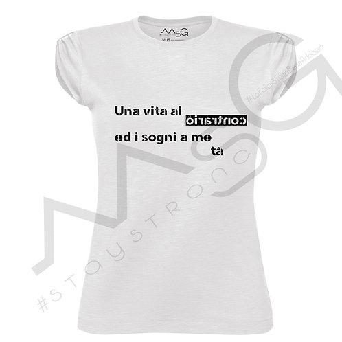 """T-shirt """"Una vita al oirartnoC"""""""