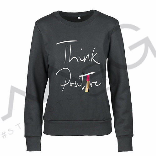 "Felpa ""Think positive"" donna"