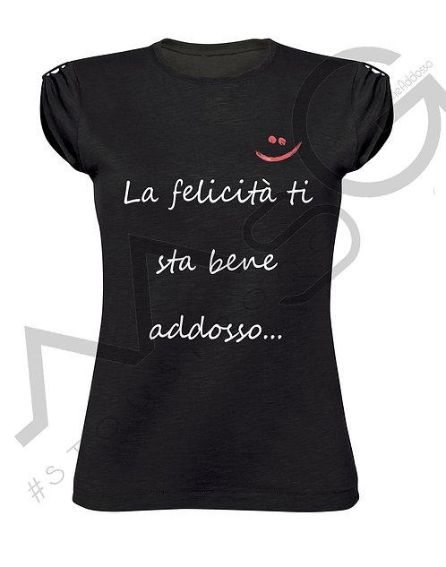 """T-Shirt """"La felicità..."""" donna"""