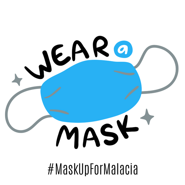 Mask Up For Malacia Sign