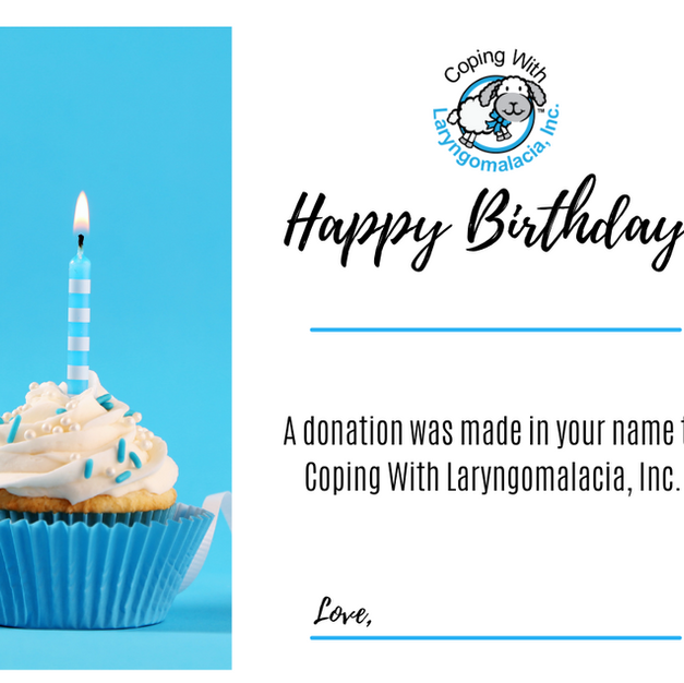 Birthday Donation Certificate