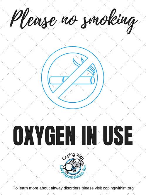 Oxygen In Use Sign (printable)